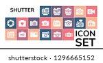 shutter icon set. 19 filled... | Shutterstock .eps vector #1296665152