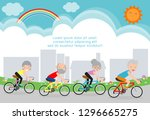 vector illustration of seniors... | Shutterstock .eps vector #1296665275