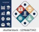 wisdom icon set. 13 filled... | Shutterstock .eps vector #1296667342