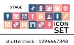 stage icon set. 19 filled... | Shutterstock .eps vector #1296667348