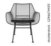 black metal wicker chair with... | Shutterstock . vector #1296674455