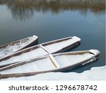 boats on the shore of the river ...   Shutterstock . vector #1296678742