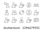 user person line icons. profile ... | Shutterstock .eps vector #1296679552