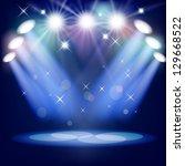 stage light. mesh. eps10. this... | Shutterstock .eps vector #129668522