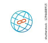 web link concept  globe and... | Shutterstock .eps vector #1296688915