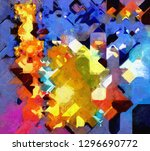 a brightly colored abstract... | Shutterstock . vector #1296690772