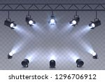 realistic spotlights isolated... | Shutterstock .eps vector #1296706912