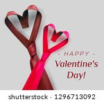 valentine's day poster greeting ... | Shutterstock .eps vector #1296713092