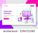 landing page template of... | Shutterstock .eps vector #1296721585