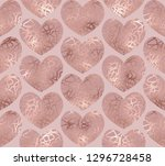 elegant dusty rose gold glitter ... | Shutterstock .eps vector #1296728458