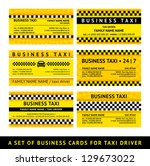 business card taxi   sixth set  ... | Shutterstock .eps vector #129673022