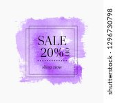 sale 20  off sign over abstract ... | Shutterstock .eps vector #1296730798