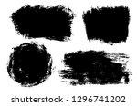 vector set of big hand drawn... | Shutterstock .eps vector #1296741202