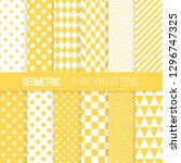 yellow and white geometric... | Shutterstock .eps vector #1296747325