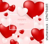 valentine day greeting card... | Shutterstock . vector #1296756685