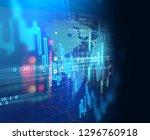 financial stock market graph on ... | Shutterstock . vector #1296760918