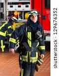 Young Fireman In Uniform...
