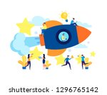 the launch of a new business in ... | Shutterstock .eps vector #1296765142