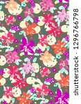 colourful flowers seamless... | Shutterstock .eps vector #1296766798