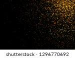 gold glittering light bokeh... | Shutterstock . vector #1296770692