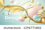 flowing soft spheres. abstract... | Shutterstock .eps vector #1296771802