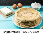 Homemade Pancakes Blini With...