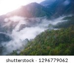 fog on the high mountains  sa... | Shutterstock . vector #1296779062