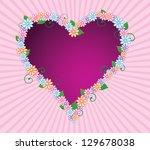 abstract illustration of heart...   Shutterstock . vector #129678038