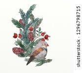 christmas illustration set | Shutterstock . vector #1296798715