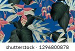 botanical seamless pattern ... | Shutterstock .eps vector #1296800878