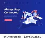 virtual relationships  online... | Shutterstock .eps vector #1296803662