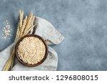 oats  oat flakes  rolled oats... | Shutterstock . vector #1296808015