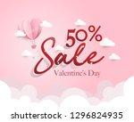 valentine's day sale  discount  ... | Shutterstock .eps vector #1296824935