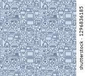 seamless background of outline... | Shutterstock .eps vector #1296836185