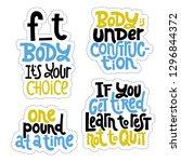 sticker set design template... | Shutterstock .eps vector #1296844372