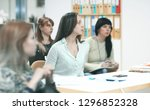 close up.business team at the... | Shutterstock . vector #1296852328