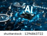 3d render ai artificial... | Shutterstock . vector #1296863722