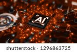 3d render ai artificial... | Shutterstock . vector #1296863725