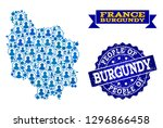 people collage of blue... | Shutterstock .eps vector #1296866458