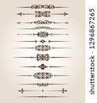 set of retro text dividers and... | Shutterstock .eps vector #1296867265