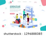 career application parts ... | Shutterstock .eps vector #1296888385