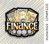 vector logo for finance  black... | Shutterstock .eps vector #1296891232