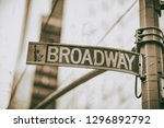 Broadway Street Sign In...