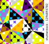 seamless geometric pattern.... | Shutterstock .eps vector #1296893782