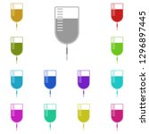 blood bag icon in multi color....