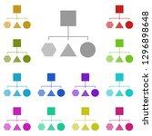 block diagram icon in multi...