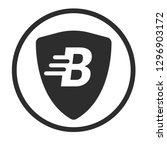 shield and letter b. logo...