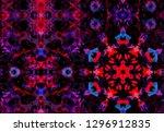 geometric color watercolor... | Shutterstock . vector #1296912835
