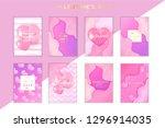 saint valentine's day trendy... | Shutterstock .eps vector #1296914035