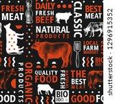 typographic vector butchery... | Shutterstock .eps vector #1296915352